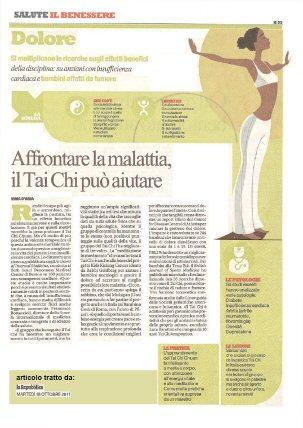 2011 - La Repubblica - Benefici sulla Salute